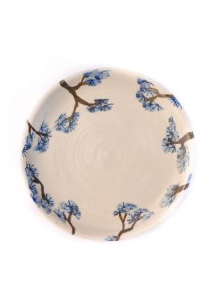 Pine plate handmade
