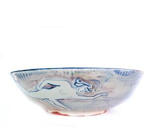 Round Bowl Blue handmade
