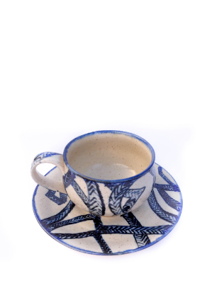 Teacup and saucer handmade