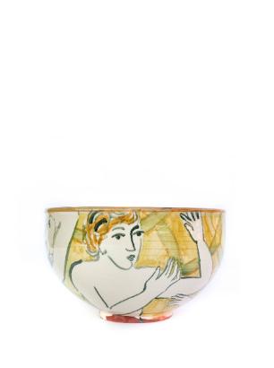 Yellow Round bowl handmade